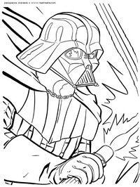 Дарт Вэйдер - скачать и распечатать раскраску. Раскраска Дарт Вейдер, отец Люка Скайвокера, темный лорд, Эникен, разукрашка из фильма Звездные войны