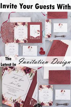 Create Your Very Own Customized Invitation Suite Today! Fresh New Styles For 2020 Laser Cut Invitation, Laser Cut Wedding Invitations, Invitation Suite, Invitation Design, Unique Wedding Stationery, Wedding Invitation Trends, Wedding Order, Our Wedding, Dream Wedding