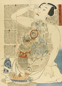 Illustrated Internal Bodily Functions in Ukiyo-e From the 1800s | Spoon &…