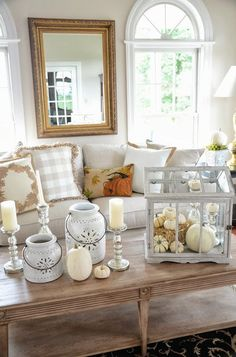 Beautiful Fall decor with a pop of color!