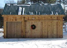 20x30 post + beam Barn with custom sliding barn doors. http://jamaicacottageshop.com/shop/20x30-barn/