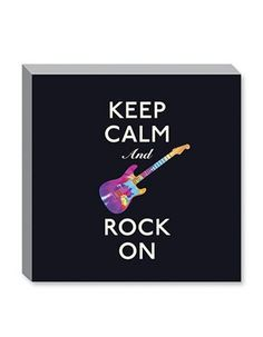 Keep Calm and check out our brand new Keep Calm Canvases! Including this Keep Calm And Rock On one!     http://www.theshoppingbagstore.com/