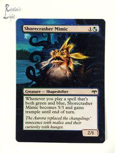 Shorecrasher Mimic - Full Art MTG Alter - Revelen's Light Altered Art Magic Card