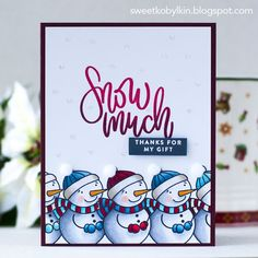 When it comes to making seasonal cards, it is handy to have a card kit with all the necessary supplies: card stock, a themed set of stamps,. Winter Cards, Holiday Cards, Christmas Cards, Christmas 2017, Christmas Ideas, Card Kit, I Card, Stamp Card, Honey Bee Stamps