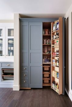 kitchen pantry cabinet stand alone pantry cabinets traditional style for kitchen. Stand Alone Kitchen Pantry, Kitchen Pantry Design, Kitchen Pantry Cabinets, Kitchen Interior, Kitchen Decor, Pantry Interior, Kitchen Corner, Kitchen With Pantry, Country Kitchen