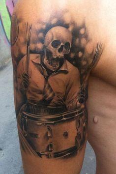 Skull tattoos by Razvan Popescu