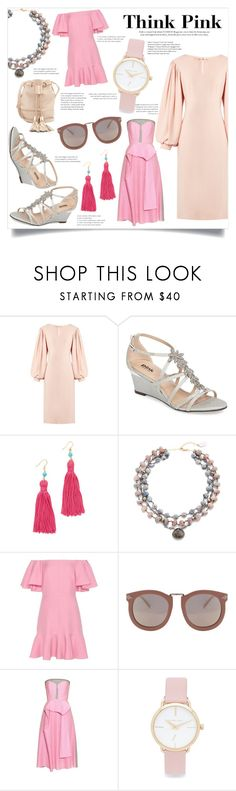 """""""Shopping Time - Think Pink"""" by bonnielindsay ❤ liked on Polyvore featuring Osman, Pink Paradox London, Kenneth Jay Lane, ela rae, Valentino, Karen Walker, Roksanda, Michael Kors and See by Chloé"""