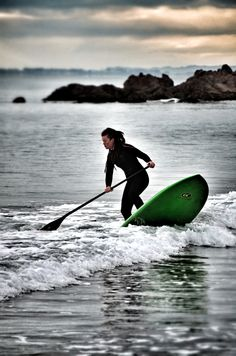 Kirsty, owner of SUP Coromandel on her new  C4 Sub Vector