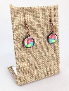 Fleurty Girl - NOLA Colors Dangle Earrings, Horse Post, $16