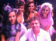 Little Mix and Simon Cowell at the 2013 BRITS!