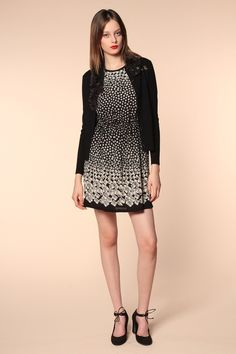 Anna Sui- resort 2014- I love this print dress and set off by a cute cardi.