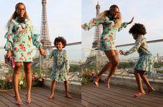 #Beyoncé und #BlueIvy in #Gucci-Partnerlook in #Paris #StarStyle