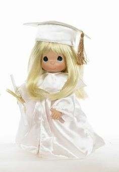 Precious Moments Dolls 2014 | PRECIOUS MOMENTS FIRST THE GRADUATION BLONDE DOLL Precious Moments Dolls, Make You Smile, Horror, In This Moment, Make It Yourself, Christmas Ornaments, Anime, Graduation, Fictional Characters