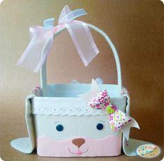 Cesta com molde para artesanato Baixar molde de cesta para produção de artesanato Easter Crafts, Easter Bunny, Diy And Crafts, Gelato, Lunch Box, Baby Shower, Christmas Ornaments, Holiday Decor, Kids