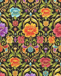 Grand Majolica - Victorian Pottery Garden - Black/Gold