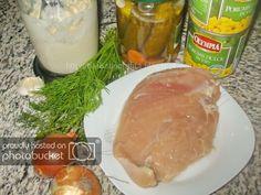 Salata de pui si porumb Ingrediente Meat, Chicken, Food, Sweet, Salads, Essen, Meals, Yemek, Eten