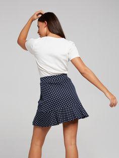 York Textured Layer Flip Skirt | Dotti