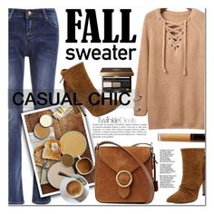 """""""TWINKLEDEALS FALL SWEATER"""" by nanawidia ❤ liked on Polyvore featuring Bobbi Brown Cosmetics and Becca"""