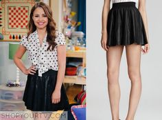 Young & Hungry: Season 2 Episode 3 Sofia's Leather Pleat Skirt