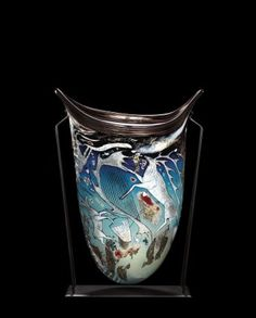 Vessel by William Morris, 1990. | Corning Museum of Glass #glass #Contemporary…