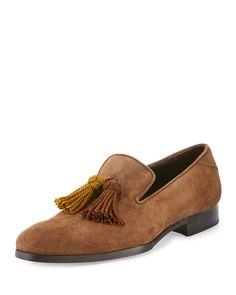 0798abf12916 Jimmy Choo Foxley Men s Autumn Suede Tassel Loafer Shoes Jimmy Choo Men