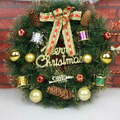 30CM Christmas Decoration Gift Christmas Tree Decoration Garland Christmas Wreath Door Hanging Christmas Wreath