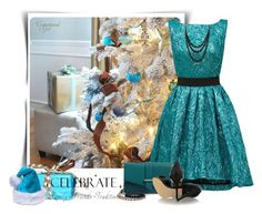 """""""Oh Christmas Tree"""" by barbarapoole ❤ liked on Polyvore featuring Christian Pellizzari, Halogen, Fendi and Bling Jewelry"""