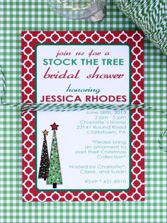 Free Printable Wedding Shower Invitations: Planning on filling the couples Christmas tree or throwing a holiday-themed bridal shower? stronga href=http://img.diynetwork.com/DIY/2013/05/06/DO_NOT_RESIZE_CI-Kori-Clark_Invitation-Stock-The-Tree-wedding-shower.pdf target=_blankUse this festive Christmas tree invitation/a./strong From DIYnetwork.com