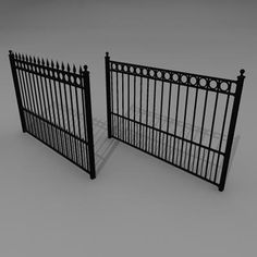 rod iron fence