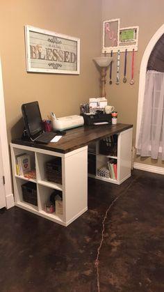 DIY Craft Desk Chelsea's Way! DIY Craft Desk Chelsea's Way! The post DIY Craft Desk Chelsea's Way! appeared first on Schreibtisch ideen. Diy Crafts Desk, Craft Desk, Diy Desk, Space Crafts, Craft Rooms, Workspace Desk, Desks, Craft Room Tables, Diy Computer Desk