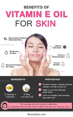 Tips And Tricks For Healthy Youthful Skin Benefits of Vitamin E Oil for Your Summer Skincare Routine – Summer Skin Care Routine – 11 Best DIY Home Remedies, Tips and Tricks for Healthy Skin Benefits Of Vitamin E, Vitamin E Uses, Vitamin E For Face, Health Benefits, Wrinkled Skin, Prevent Wrinkles, Tips Belleza, Oils For Skin, Oily Skin