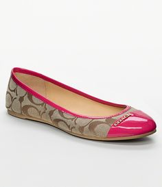 Coach flats with pink toe Coach Outfits, Royal Blue Heels, Coach Flats, Pink Toes, New Shoes, Flat Shoes, Cute Shoes, Womens Flats, Wedding Shoes