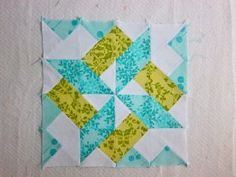 Starry Skyline Block. Really great block that would make a wonderful quilt. I love the restrained color palette.