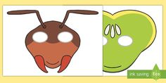 Fantastic fun and perfect for encouraging your children to really take on their roles, role play masks are an absolute must for any role play theme.Tags in this resource: Traditional Tales, Role Play, Ants, Kids Playing, Scooby Doo, Thailand, Children, Fictional Characters, Insects