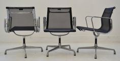 Interiors - Provenance Auction House: A Set of Eight Charles and Ray Eames Aluminium Chairs. African Art, Eames, Highlights, Auction, Chairs, Interiors, Contemporary, House, Furniture