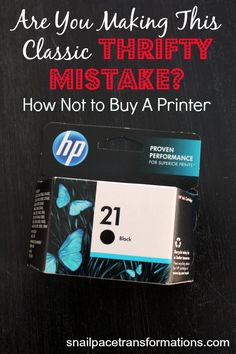Are you making this classic thrifty mistake? It can be applied to many more things than printers and could end up costing you significantly.