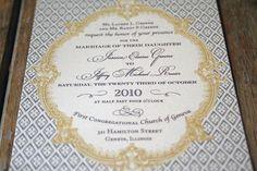 Vintage Wedding Invitation French Baroque by Bdesignsinvitations, $4.05