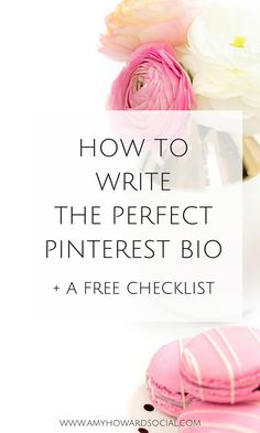 Want to have the Perfect Pinterest Bio? Find out exactly how to write the perfect Pinterest bio + download a free checklist! Make Money Blogging, How To Make Money, Money Tips, Amy Howard, Pinterest For Business, For Facebook, Instagram Tips, Content Marketing, Media Marketing