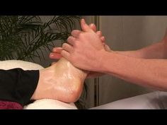 How To Perform A Stress Relieving Foot Massage - YouTube