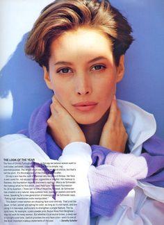 Christy Turlington by Brigitte Lacombe - Mirabella Mag. June 1990