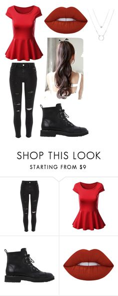 """""""picknick date"""" by invisiblelikeaghost ❤ liked on Polyvore featuring River Island, Giuseppe Zanotti and Lime Crime"""