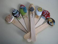 Painted rock bookmarks!