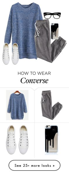 """Sleep, Deep Sleep, Endless Sleep"" by ittybittyrsunshine on Polyvore featuring H&M, Converse and ZeroUV"