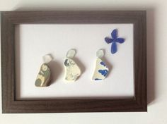 Three wise men, three kings Christmas picture, Scottish Seaglass art, Christmas decoration