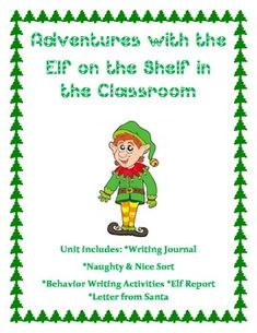 Elf on the Shelf Unit~ FREE - Kinderpillars - TeachersPayTeachers.com