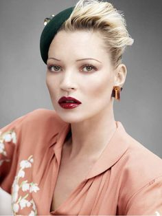 Old Glamor Editorials - The Kate Moss British Vogue Spread has Both Vintage and Modern Elements (GALLERY)
