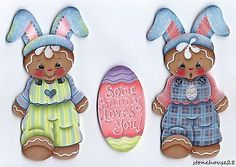 Hp-Pan-de-Jengibre-Conjunto-De-3-Piezas-algunos-Bunny-te-ama-Pascua-Imanes-del-refrigerador