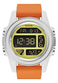 bf494341c86 Nixon Mens Unit SW Rebel Pilot Japanese Automatic Rubber and Silicone  Casual Watch ColorOrange Model A197SW238400