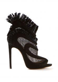Azzedine Alaïa black mesh sandals