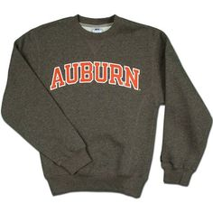 Russell Athletic Arched Auburn Crew Neck Sweatshirt-graphite ($26) ❤ liked on Polyvore featuring tops, hoodies, sweatshirts, jackets, shirts, crewneck sweatshirt, sweatshirt hoodies, russell athletic sweatshirt, sweat shirts and crew neck sweat shirt
